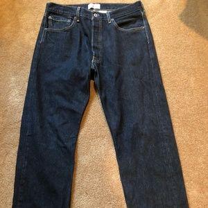 Levi's Men's 501 Original Fit Straight Leg Black